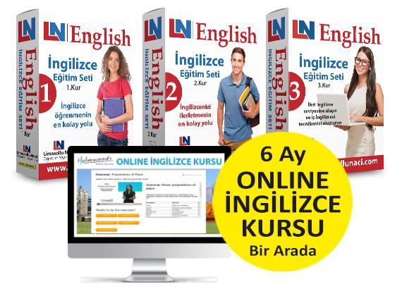 LN İngilizce Eğitim Setleri 3 Kur + 6 Ay Online İngilizce Kursu