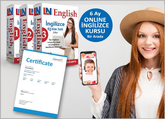 LN İngilizce Eğitim Setleri + Online İngilizce + Konuşma Kursu