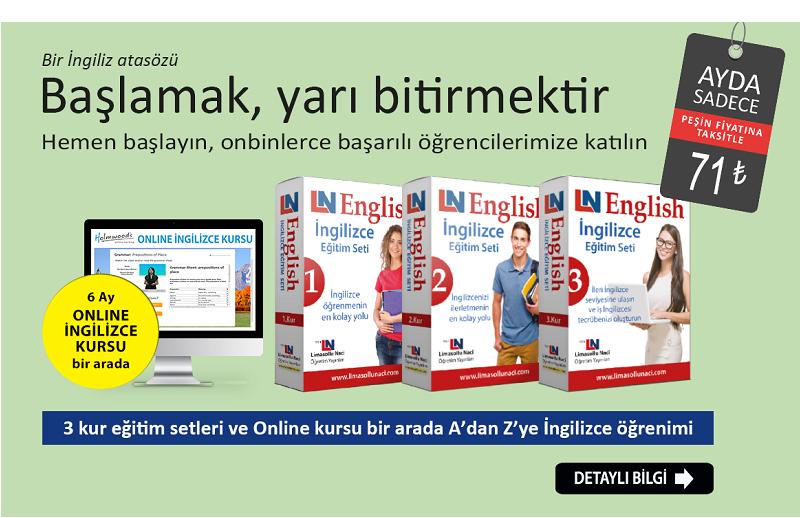 İngilizce eğitim setleri + 6 ay online İngilizce kursu
