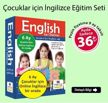 Çocuklar İçin İngilizce Eğitim Seti + 6 Ay Çocuklar için Online İngilizce Kursu