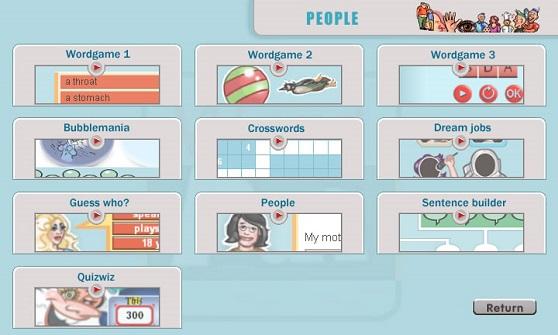 WordPal İnteraktif CD-ROM'umuzdan bir ekran görüntüsü